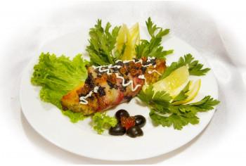 Блюдо из рыбы - «Сёмга с икорными соусом»