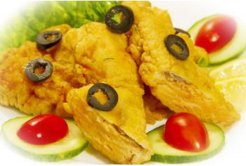 Блюдо из рыбы - «Семга в кляре»