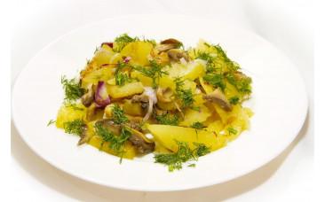 Горячий гарнир - «Картофель с грибами»