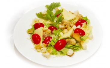 Салат с морепродуктами - «Цезарь с сёмгой»