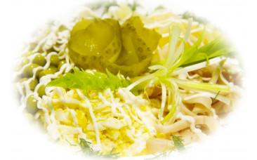 Салат с морепродуктами - «С кальмарами»