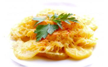 Горячий гарнир - «Картофель запеченный под сыром»