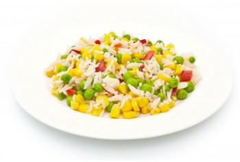 Горячий гарнир - «Рис с овощами»
